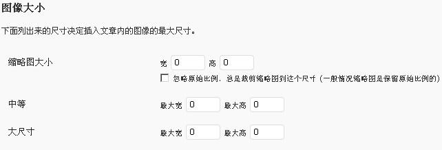 wordpress关闭缩略图