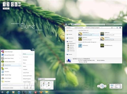 Windows 7主题Elune