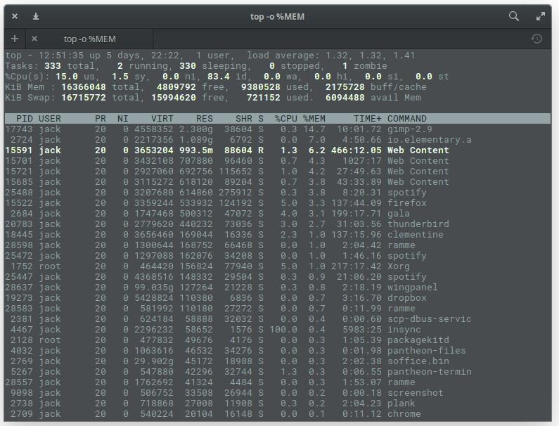 5个命令检查Linux中内存使用情况