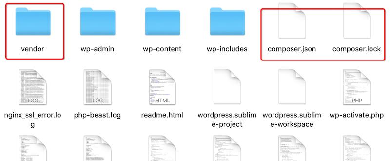 在WordPress主题或插件中使用composer