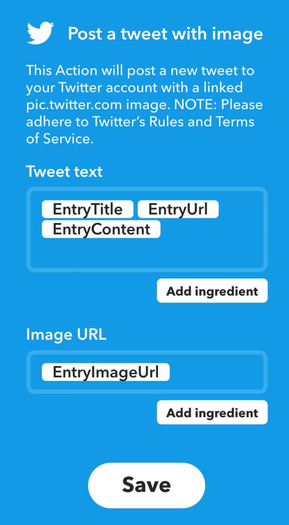 IFTTT RSS源中加入图片EntryImageUrl