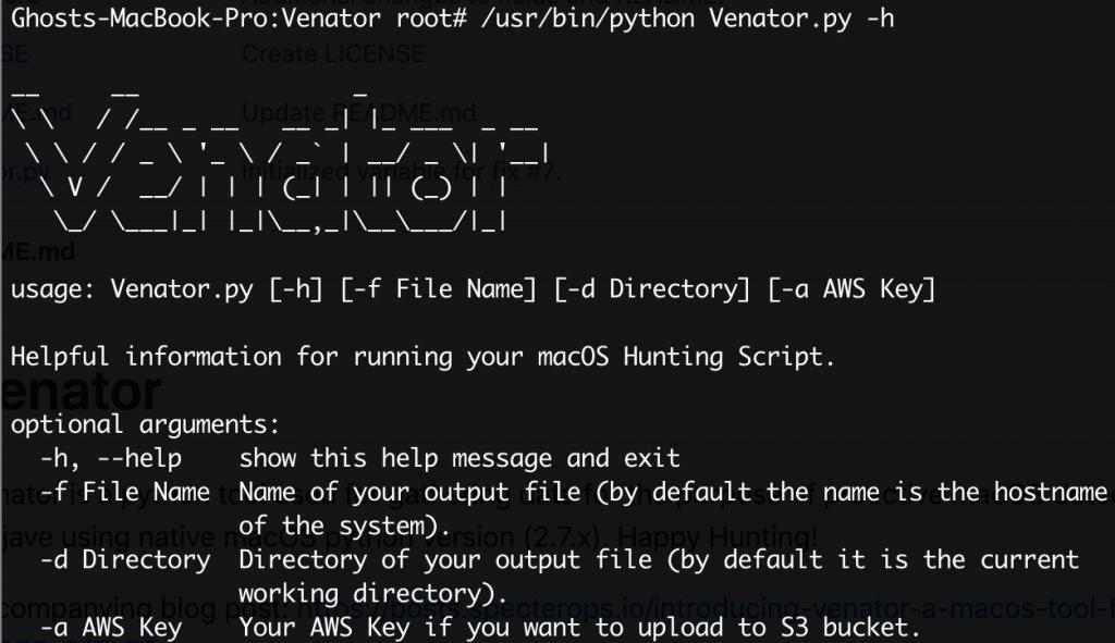 Venator - macOS恶意活动检测工具