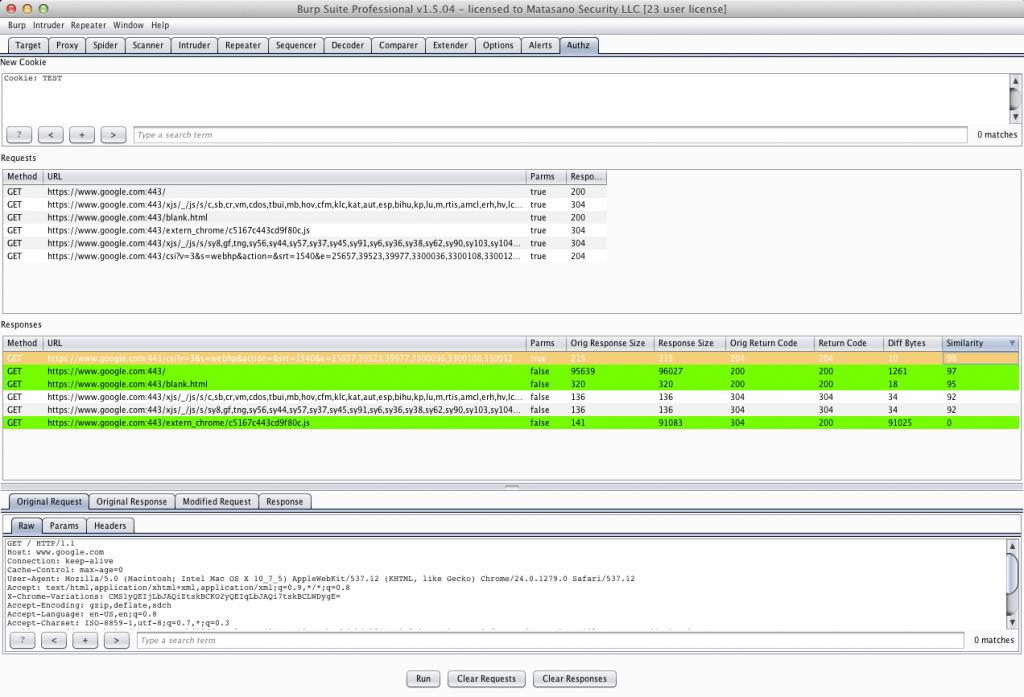 使用BurpSuite Authz插件快速探测越权访问漏洞