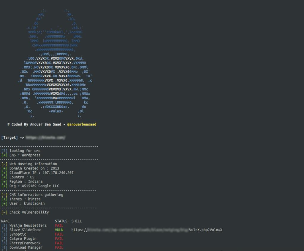 VulnX:一款智能自动检测多种CMS漏洞的程序