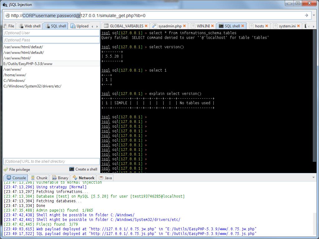 jSQL Injection:一款自动化SQL注入工具,开源|免费|跨平台|强大