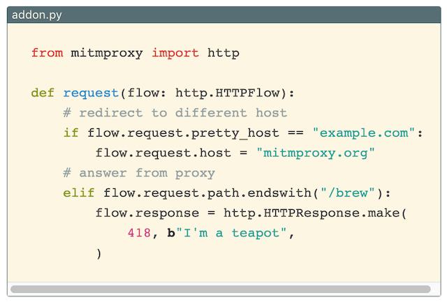 mitmproxy:中间人攻击HTTP/HTTPS代理,支持录制|重播|拦截|动态修改数据