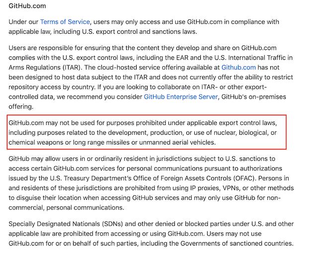 GitHub 技术封锁了伊朗等一些国家的程序员访问