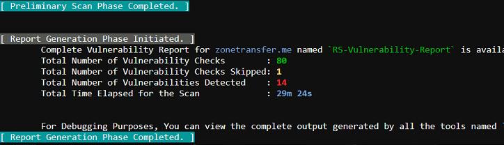 RapidScan - 自动化多工具Web漏洞扫描器