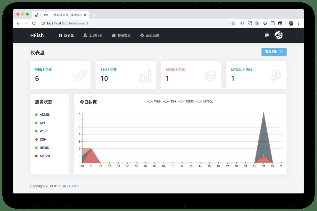 HFish:一款企业安全主动攻击型蜜罐网络钓鱼框架系统