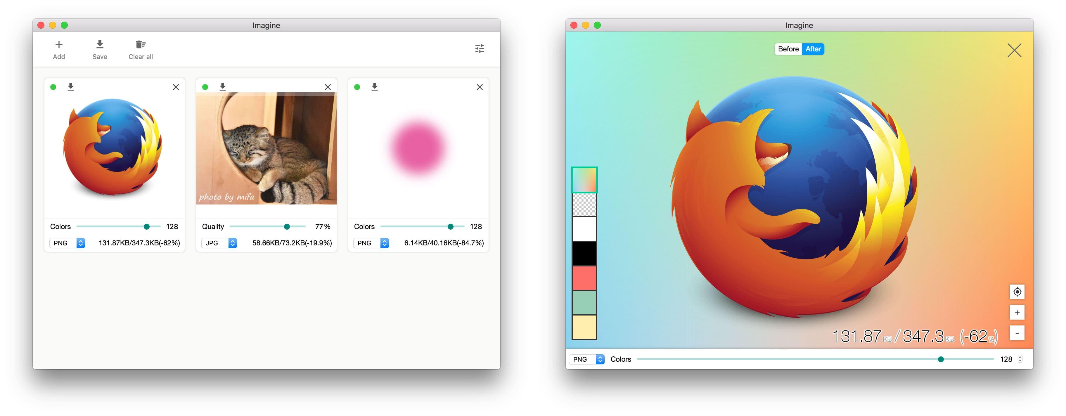 图片压缩/批量无损压缩图片工具:Imagine,Mac/Windows/Linux