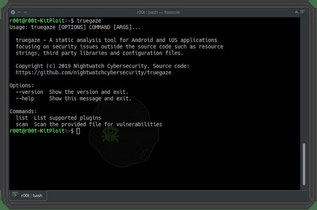 Android/IOS应用静态资源分析工具:truegaze,关注源代码之外的安全问题