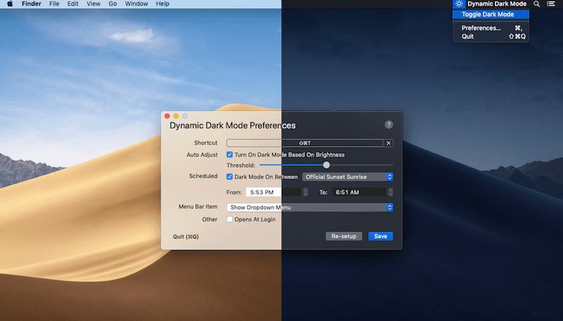 macOS自动深色模式Dark Mode的两款APP
