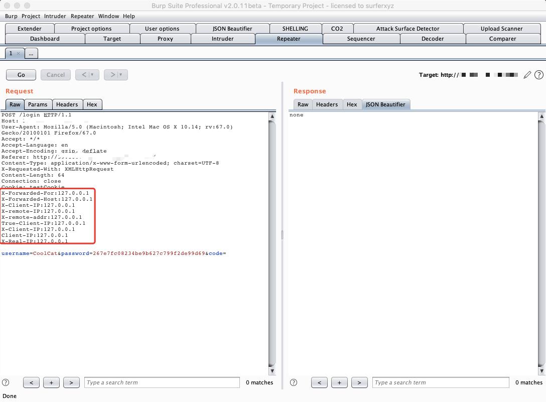 一个用于伪造IP地址进行爆破的BurpSuite插件:BurpFakeIP