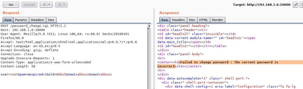 Webmin 小于等于 1.920 - Unauthenticated RCE