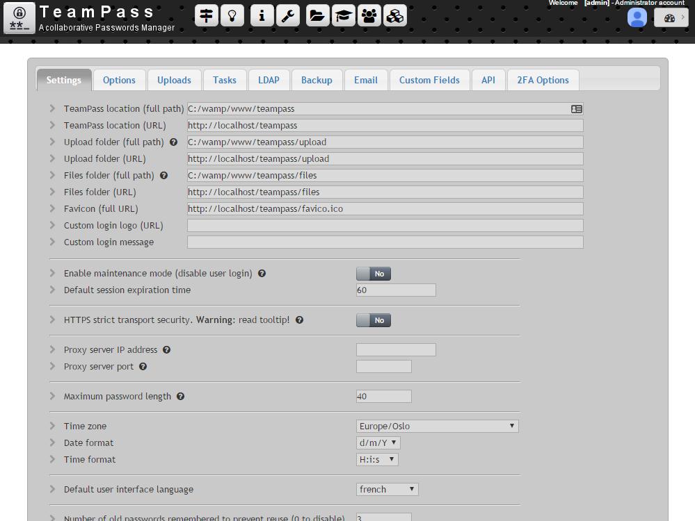 强大/免费/开源的《协作密码管理器》:Teampass