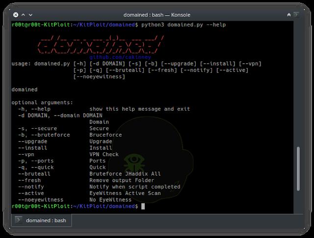 多功能子域名枚举工具:Domained