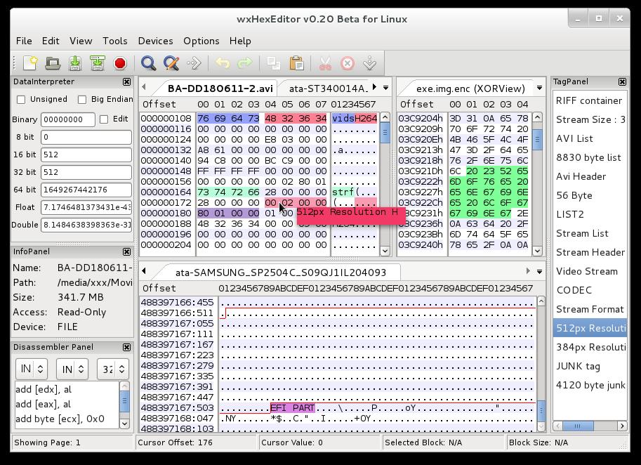 适用于Linux/Windows/MacOSX的免费十六进制编辑器:wxHexEditor