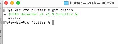 Flutter版本升级&版本回退